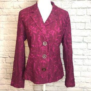 CAbi Plumberry Lace Blazer